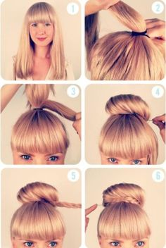 braided bun 7 Quick but Cute Hairstyles for Work Side Hairstyles, Pretty Hairstyles, Braided Hairstyles, Braided Updo, Wedding Hairstyles, Updo Hairstyle, Twisted Braid, Perfect Hairstyle, Pigtail Hairstyles