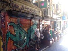grafiti art on Degraves St Melbourne
