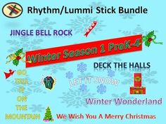 ***BUNDLES Save you 25% OFF Individual Prices!***  PreK-4 Winter Season Bundle 1   6 Songs: Jingle Bell Rock, Go Tell It On The Mountain, Deck The Halls, We Wish You A Merry Christmas, Let It Snow, Winter Wonderland