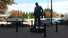 John Coltrane statue at Commerce & Hamilton