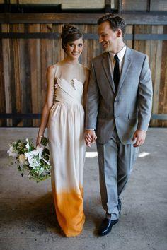 dip dyed dress // #nontraditional #weddingdress