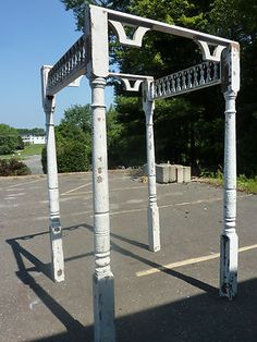 Victorian Architectural Gingerbread Salvage Garden Arbor Pergola x Sq Garden Gates And Fencing, Garden Arbor, Garden Yard Ideas, Garden Items, Garden Decorations, Fences, Victorian Style Homes, Backyard Landscaping, Backyard Patio