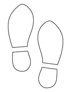 Use the printable outline for crafts, creating stencils, scr. Templates Printable Free, Print Templates, Print Patterns, Printables, Pattern Print, Detective Theme, Shoe Template, Free Shoes, Print And Cut