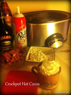 Crockpot Hot Cocoa (must make this)
