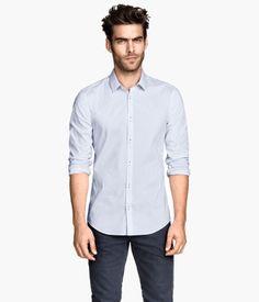 H&M - Light Blue Striped Shirt