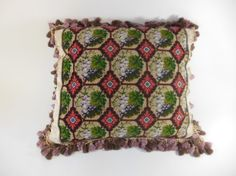 Colorful silk petit point inset into silk Damask. Framed with lavish lavender fringe lavender velveteen back. Perfect for a wine lover. Available now in store pillowtalkdirect.com. Click the link in bio! #pillow #pillows #asid #interiors #interiordesign #interiordesigner #vintage #homes #gifts #presents #decorate #love #design #pillowtalkdirect #pillow #cushion #decor #homedecor #designer #realestate #homestaging #etsy #shop #shopping #fashion #style #gift #present