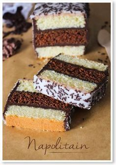 I, gourmand: Neapolitan house Sweet Recipes, Cake Recipes, Dessert Recipes, Köstliche Desserts, Food Humor, Food Cakes, Yummy Cakes, Love Food, Bakery