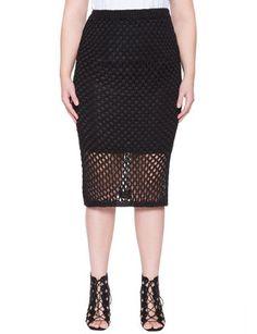 Textured Knit Pencil Skirt from eloquii.com
