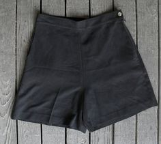 Black Silk High Waist Tap Shorts 1980s small by kathrynebordeaux, $19.00
