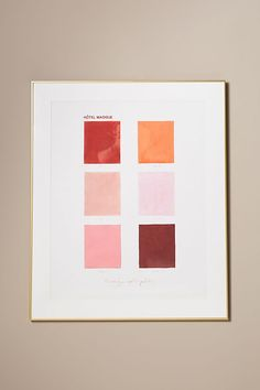 Magique Color Palette Wall Art by Artfully Walls in Assorted, Decor at Anthropologie