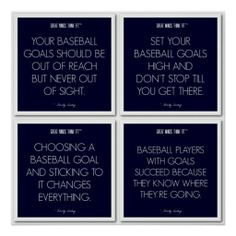 #Baseball #Quotes for Motivation: Goals #Poster