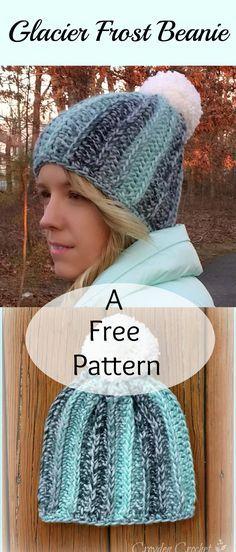 Glacier frost beanie, free pattern
