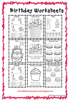 happy birthday esl the teaching stuff 1st birthday games birthday games coloring sheets. Black Bedroom Furniture Sets. Home Design Ideas