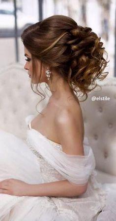 Elstile wedding hairstyles for long hair 3 - Deer Pearl Flowers / http://www.deerpearlflowers.com/wedding-hairstyle-inspiration/elstile-wedding-hairstyles-for-long-hair-3/ #'weddinghair'