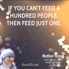 Happy Easter, sweet Christian friends! // If you can't feed a hundred people, then feed just one. - Mother Teresa