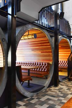 Beautiful restaurant booths...