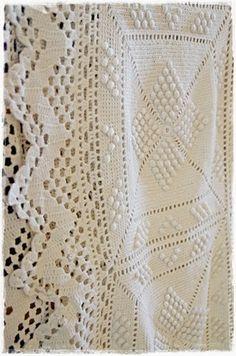 Windmühle21: Häkeln Crochet Bedspread, Crochet Quilt, Crochet Squares, Knit Crochet, Bobble Stitch Crochet, Irish Lace, Bedspreads, Afghans, Sewing Ideas