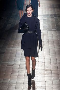 Fall 2013 Trend Report - Runway Fall Fashion Trends 2013 - Harpers BAZAAR navy and black with a red lip