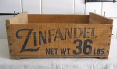nice type layout for a crate Vintage Wood Crates, Old Wooden Boxes, Old Crates, Old Boxes, Vintage Box, Wooden Crates, Wine Crates, Old Baskets, Shipping Crates
