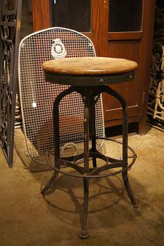 Chairs + Benches Furniture – Other Industrial Stool, Industrial Furniture, Industrial Design, Condo Furniture, Furniture Ideas, Interior Decorating, Decorating Ideas, Cool Items, Metal Working