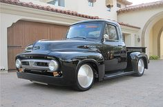 1953 Ford F-100  This is the black FR100 truck built by Ford Racing and McLaren Technologies.