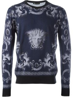 VERSACE 'Lenticular Foulard' Jumper. #versace #cloth #jumper