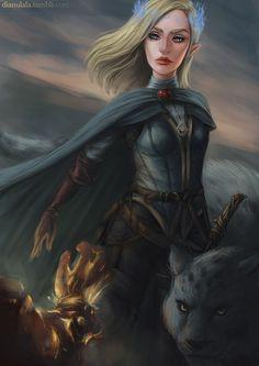 Aelin and Lysandra by dianulala. Empire of Storms. Sarah J Maas