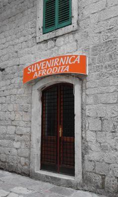 AFRODITA, tienda de recuerdos en Kotor, Montenegro. Montenegro, Neon Signs, Aphrodite, Literatura, Products