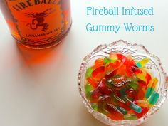 Boozy Gummies Gummy worms + Fireball is basically the most genius thing ever. You can have your candy and liquor too. #fireball #recipe