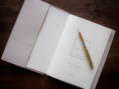 md notebook leather cover // nude