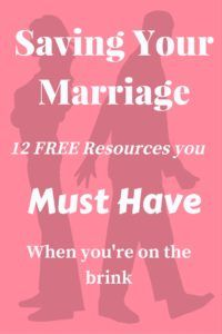 Sign up for Saving Your Marriage Resources- free- from one who's been there! Nothing is impossible with God!