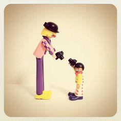 #playmobil #doll #camera #instagram #clown #circus, via Flickr. Photographers, Lego, Dolls, School, Instagram, Playmobil, Baby Dolls, Puppet, Legos