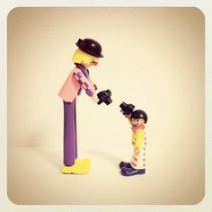 #playmobil #doll #camera #instagram #clown #circus, via Flickr.