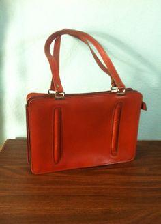 Vintage Leather Purse satchel handbag by LitterandVintage on Etsy, $26.00