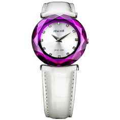 Jowissa Ladies' Patent Leather Watch In White & Purple - Beyond the Rack