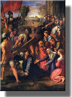Christ on the Road to Calvary by Raphael, Picture on Acrylic , Wall Art Décor, Ready to Hang!