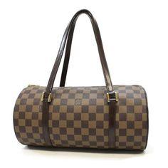 Louis Vuitton Papillon 30 Damier Ebene Handle bags Brown Canvas N51303