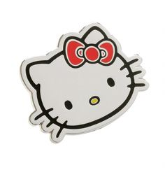Well, hello there Hello Kitty! What an awesome little pin, designed to make you as feel as magical as the kitty herself. Brighten up any outfit in style.