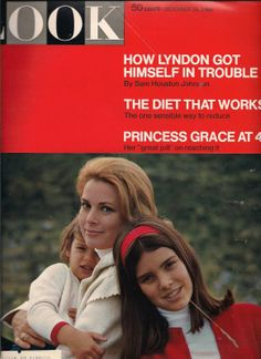 LOOK - Cover - December 16, 1969 - Princess Grace with her daughters Stephanie and Caroline