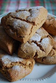 Gingerbread Scones 8 servings 2 cups flour 3 tablespoons brown sugar 2 teaspoons baking powder 1 teaspoon ground ginger 1/2 tea...