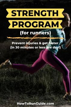 Build the strength to run further and faster while preventing injuries! Strength Training For Beginners, Strength Training For Runners, Running For Beginners, Strength Workout, Running Injuries, Running Workouts, Running Tips, Running Humor, Wellness Fitness