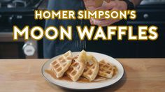 How to Make Homer Simpson's Patented Space-Age Out of this World Moon Waffles