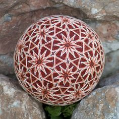 32 Flowers temari ball by mfrid on Etsy, $25.00