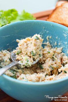 Patê de Frango Caseiro Delicioso! Para preparar um lanche ou petisco para o café da tarde.