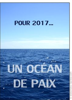 Cette carte vous plait ? Profitez-en tant qu'il est encore temps de souhaiter une bonne année 2017 à vos amis avec une jolie #carte envoyée par La Poste en quelques clics ! #voeux #BonneAnnée #voeux2017 #amour #love #paix #peace #paz  Carte Un oc�an de paix pour la nouvelle ann�e pour envoyer par La Poste, sur Merci-Facteur !