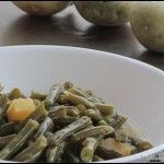 Skinny Slow Cooker southern style green beans. Leave the potato out or be sure to count the points.