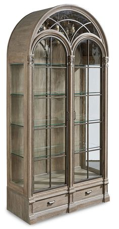 Arch Salvage Gwynn Curio China in Pine | A.R.T. Furniture | Home Gallery Stores