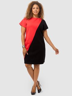 Damaris Sheath Dress In Black & Poppy Red by Mynt 1792,Available in sizes 12W,14W/16W,18W/20W,22W/24W and 26W