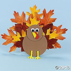 Fall Leaves Thanksgiving Turkey...children can make with craft foam and leaves