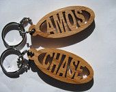 Fido Fobs - Custom scroll saw key chain fobs with your pet's name. Visit www.etsy.com/shop/LyonDenScrollworks